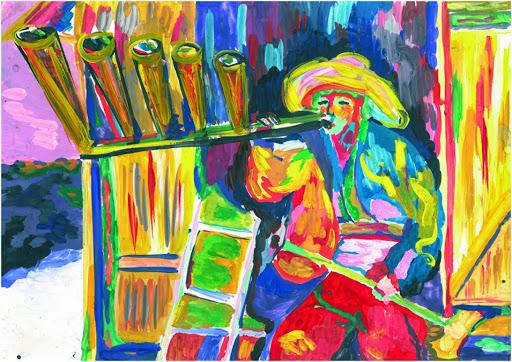 2 prix dans la catégorie « 14-17 ans ». «Il est mieux d'être seul qu'avec n'importe qui». Gourina Ilona 16 ans, Atelier Artistique ACQUA, Slavutich, Ukraine Commentaire de l'artiste: Il vaut mieux de  ne pas se marier du tout que d'avoir une autre famille.