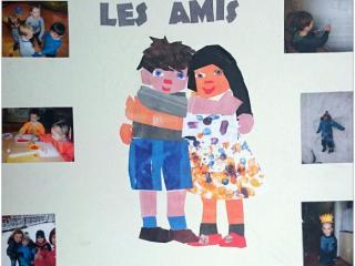 Œuvre collective, enfants de 3-5 ans, atelier artistique ACQUA, Slavutich, Ukraine.