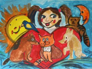 «Le manque de confiance nuit à l'amitié». Sudarikova Elizaveta  9 ans, Atelier Artistique ACQUA, Slavutich, Ukraine. Commentaire de l'artiste: Si tu ne fais pas confiance à ton ami, il ne voudra plus être ton ami.