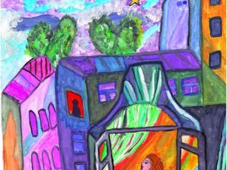 «Il vaut mieux avoir un ami fidèle qu'une pierre précieuse». Berliak Anastasia 15 ans, Atelier Artistique ACQUA, Slavutich, Ukraine. Commentaire de l'artiste: Je suis prête à me priver de tout pour mes amis.