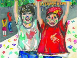 «On juge l'homme à ses amis » Baltasar Gracian. Kosterina Svetlana 15 ans, Atelier Artistique ACQUA, Slavutich, Ukraine Commentaires de l'artiste: Tu es comme tes amis.